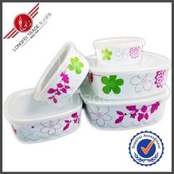 Cheap fashion flower design plastic food storage box