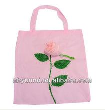 Novelty rose foldable shopping bag