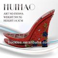 Plataforma de color rojo hecha a mano FH309A/suela de zapato/sandalias para boda