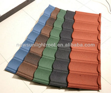 High quality corrugated copper roof for roofing /red roofing shingles/1340*420mm roof tile coating