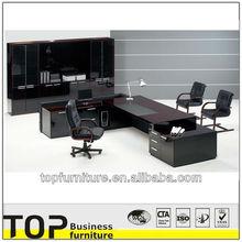 2015 Custom Photo Luxury High Gloss Executive Wood Veneer Office Desk