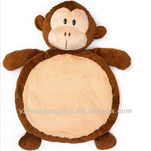 Wholesale soft monkey plush baby play mat