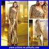 ED-0854 Rhinestone long evening prom dress gold sequin floor length dresses gold evening dress malaysia online shopping
