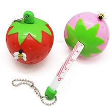 Fruit shape automatic retractable tape measure, bag pendant, strawberry tape