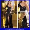 ED-0855 One shoulder long sleeve dresses 2014 one long sleeve prom dress one sleeve prom dresses