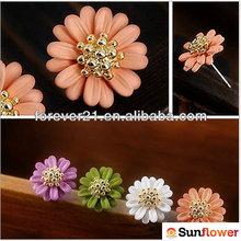 Girls Lovely & Sweet Paint-drying Daisy Shape Fashion Stud Earrings