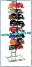 original baseball slatwall cap display stand/cap shop display/metal display rack for promotion/supermarket/retail/store