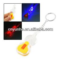 winho Guitar shape led keychain----Your Logo Here