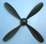 4-Blade Propeller w/nut(rubber band power) for RC airplane