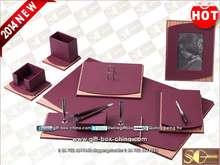 8pcs office leather desk set