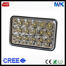 Super Bright 6000K 45W Auto LED Work Light Rectangle For Truck JEEP ATV UTV