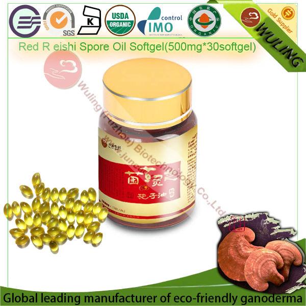 Supercritical fluid extraction Reishi Mushroom Spore Oil Softgel