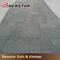 Black stone tile travertine pavers