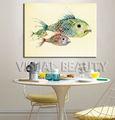 ปลาสัตว์ภาพวาดสีน้ำสำหรับdiningroom
