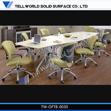2014 new high end artifical/faux stone office furniture office small meeting desk modern design
