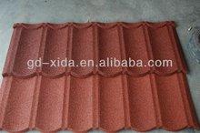 red asphalt shingles roof