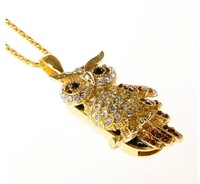 owl flash drive necklace