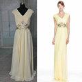 Jm Bridals grátis frete HY181 bonita A linha frisada Chiffon amostra verdadeiro novo vestido de noite 2014