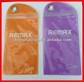 2014 Custom design protective waterproof pvc bag for Iphone
