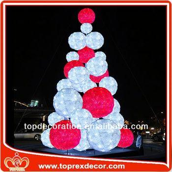 LED Ball tree decoration wooden rocking horse toy