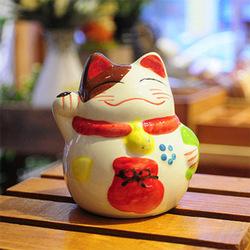 zakka Lucky Cat ceramic piggy bank piggy bank ornaments Jushi gifts A0304