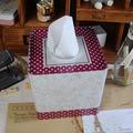 Zakka mercearia Red Polka Dot caixa de tecido quadrado bombeamento bandeja caixa de tecido cavalos boca B0542