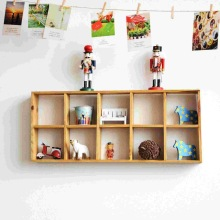 zakka grocery storage box 10 grid wall wall decoration gifts and crafts anyway dual C0903