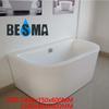 Cheap small corner transparent tub,Besma 8mm resin acrylic bathtub B-7607