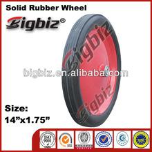 Wheelbarrow solid rubber wheels ,200 50 100 rubber grinding wheel
