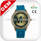 hot new product for colorfule promotion gift 2014 Silicone watch blue quartz