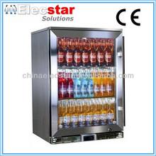 Elecstar LG series single glass door stainless steel body back bar cooler