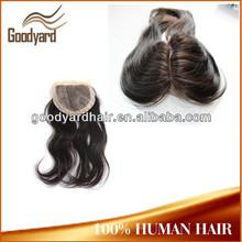 Top Quality virgin human hair 5x5 silk top closure pieces