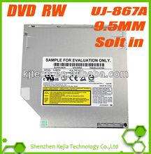 Model UJ867A 9.5mm Super Slim Ultrathin Slot-in 8X Double Layer DVD RW Recorder 24X CD Burner SATA Internal Optical Drive