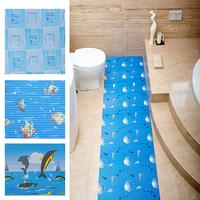 non skid colorful printed anti slip blue heat resistant bath mat