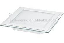 suqare glass factory smd led panel light price