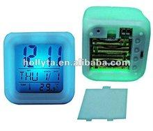 Flashing Colorful LCD/LED Time Clock, Decoration Clock, Prayer Time Clock