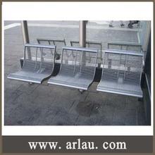 Arlau FS259 white metal garden bench 3 seater bench chair waiting