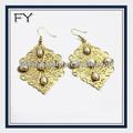 2014 vendita calda America orecchino in oro artificiale monili della perla