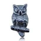 Fashion animal pendant charm stone carved jewelry pendant of animal shape cute gemstone Hematite owl pendant