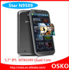 5.8 inch Dual SIM quad core 1GB RAM mtk6589 android phone