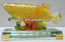 wholesale water lazurite gold arowana statue/home art decor/promotion gift