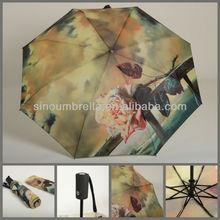 "13AC002:23""x8K 3fold Automatic open and automatic close umbrella"