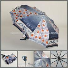 "13AC004:23""x10K 3fold Automatic open and automatic close umbrella"