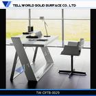 acrylic artifical stone modern design office desk cheap computer desk