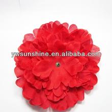 Vintage red Fabric flower brooch pin custom