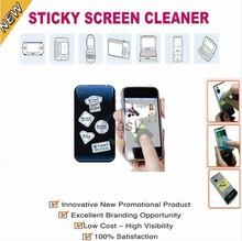 Custom adhesive microfiber screen cleaner