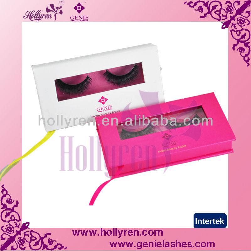 Private label Custom Eyelash Packaging ,100% Real Mink with Fox Fur ...