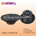 """15 pollici 4"""" bobina 1600 watt di picco altoparlanti stadio audio professionale"""