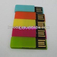 2-32gb Plastic white mini money clip usb flash drive 1tb LFN-031