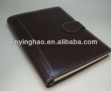 Designer antique pu notebook with color pages